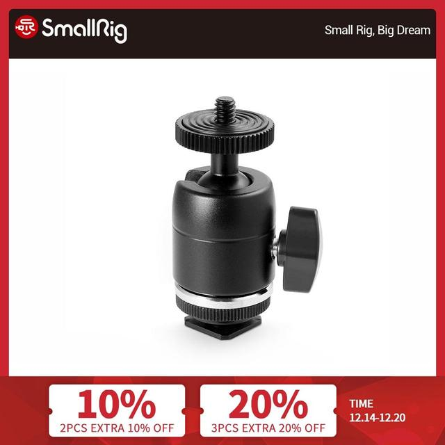 SmallRig Multi Functional Ball Head with Removable Shoe Mount For Dslr Camera Cage Monitors Led Lights  1875