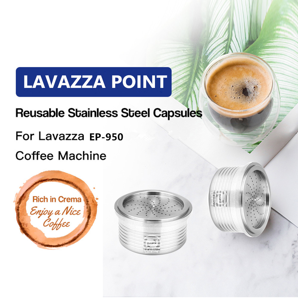ICafilas Coffee Filters For Lavazza Stainless Steel Refillable Reusable Coffee Capsules Pod Cup For Lavazza Point Machine