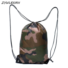 ZYWLBXMH Camouflage Drawstring Bag Oxford Cloth Storage Bag Man Travel Packing Bag Sport Outdoor Bag Daily Necessities Bag