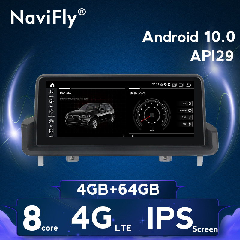 NaviFly 4GB <font><b>Android</b></font> 9/10.0 Car gps stereo head unit for <font><b>BMW</b></font> 3 serise <font><b>E90</b></font> E91 E92 E93 <font><b>10.25</b></font> inch IPS screen car multimedia video image