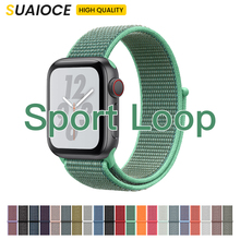 NEW Band For Apple Watch Series 3/2/1 38MM 42MM Nylon Soft Breathable Replacement Strap Sport Loop for iwatch series 4 40MM 44MM ashei strap for apple watch band 42mm woven nylon series 3 38mm classic buckle replacement strap for iwatch series 2 series 1