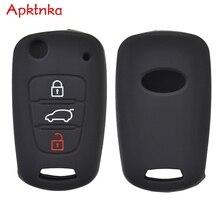 Apktnka 3 Taste Silikon Auto Remote Key Fob Abdeckung Fall Für Kia Seele Rio Sorento Ceed Sportage Für Hyundai i20 halter Protector