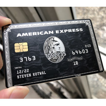 Tarjeta de negocios personal de Metal, tarjeta de regalo personalizada, diseño y producción, color negro y dorado