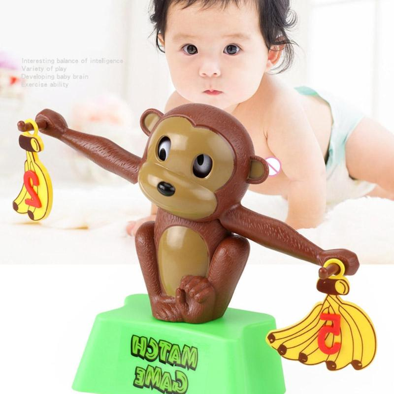Monkey Match Math Balance Scale Number Children Kid Puzzle Educational Game Toys Helping Babies Grow Smart Cute Style