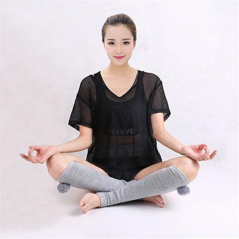 Atividades ao ar Acrílico Yoga Meias Manter Quente Antiderrapante Latina Desodorante Respirável Indoor Latin Exercícios & Livre 1 Par