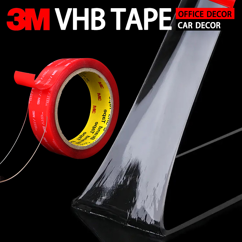 3M Scotch Tape Double Sided Adhesive Transparent Nano Tape Anti-Sunburn Temperature Strong Non-Track Acrylic Adhesive For Car