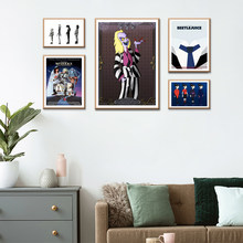 Tim Burton Movie Beetlejuice Edward Scissorhands Movie Poster Fabric Silk Poster Print Great Pictures On The Wall For Gift DIY(China)