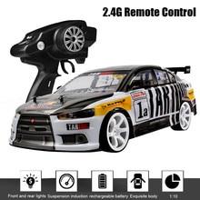 1:10 70 км/ч 2,4 г RC автомобиль Дрифт гоночный автомобиль Чемпионат 4WD Двойной аккумулятор внедорожное радио транспортное средство с дистанционным управлением электронное хобби
