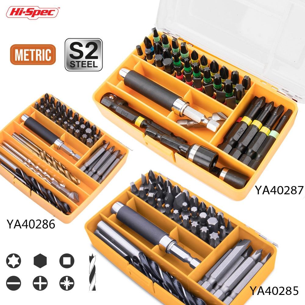Hi-Spec PTA Мульти набор сверл Метрическая Отвертка Набор бит с прорезями Phillips Torx набор сверл для дерева металл пластик ударный драйвер