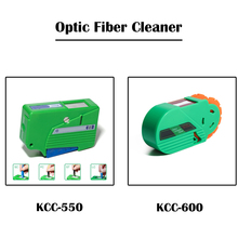 2 Pieces Optical Fiber Connector Cleaner KCC 550/KCC 600 Cassette FTTH Fiber Optic Tool Kit Ehernet Networking