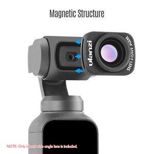 Image 4 - Ulanzi OP 5 0.65X obiektyw szerokokątny magnetyczny obiektyw szerokokątny do DJI OSMO kieszonkowy kamera kardanowa akcesoria