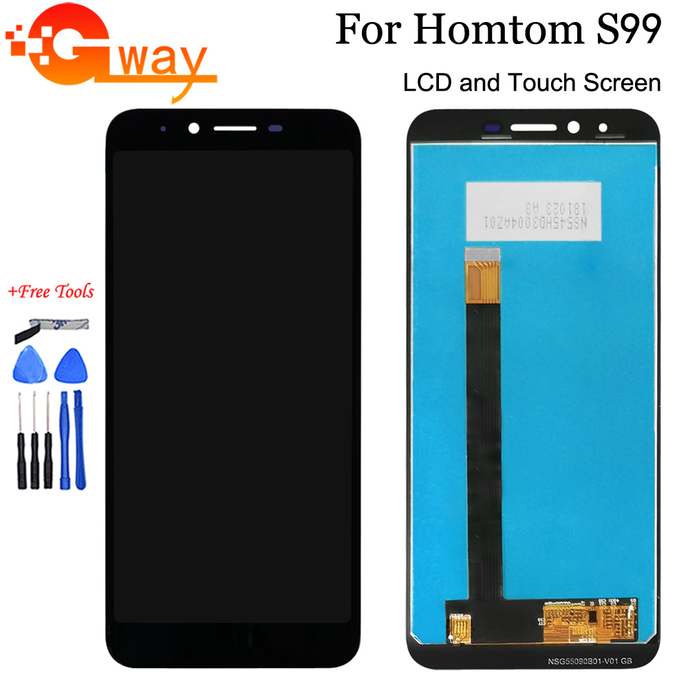 100% Tested New For 5.5 inch Homtom S99 LCD Display+Touch Screen Digitizer Assembly For HomTom S99 Accessory With Tools(China)