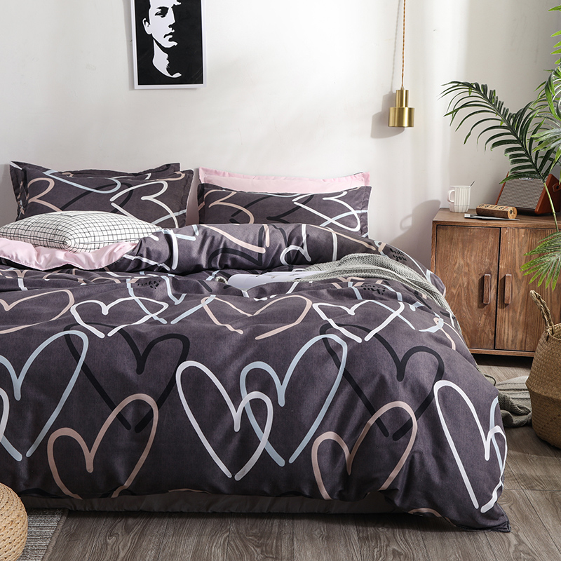 Bedding Set Mans Bedspread Comforter Cover Set Bed Linens Euro Bed Sheet Double Duvet Cover,Nordic Home Bedding,220/240,200/230