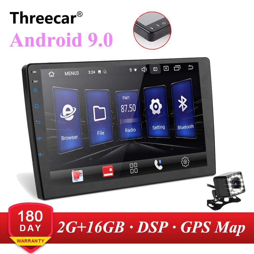 Android 9 gps navegação autoradio 2 + 16 gb 9 10 polegada multimídia jogador bluetooth dsp fm am wifi obd2 universal 2din rádio do carro