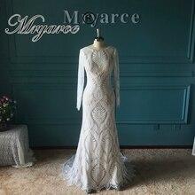Mryarce Erstaunliche Französisch Spitze Bohemian Wedding Kleid Einzigartige Braut Langarm Open Back Brautkleider