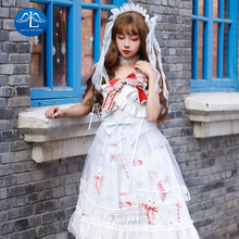 Tea Party Japanese Style Girl Long Sleeveless Lolita Dress Bowknot JSK Carousel lolita Cosplay Lace Dress Maid Costume Dress the carousel sweet printed lolita casual jsk dress by alice girl
