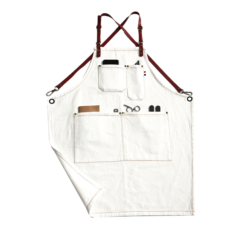 Canvas Cook Apron Barista Bartender Chef Hairdressing Apron Catering Uniform Work Wear Anti Dirty Overalls|Aprons| |  - title=