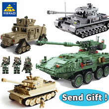 Military legoingly Building Blocks kits War Weapon Armed Tiger T-62 Model Tanks  Bricks soldier Figure Toys for Children Gift
