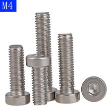 M4 x 0.7 4mm Low Head Allen Bolt Hex Socket Cap Screws A2 -70 304 Stainless Steel DIN 7984