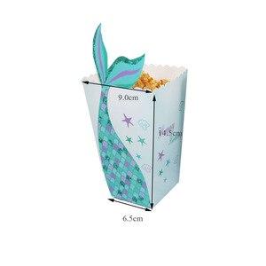 Image 5 - קטן ספקי צד בת ים בת ים פופקורן תיבת Unicorn המפלגה סוכריות תיבת תיק ילדים לטובת יום הולדת מסיבת חתונת קישוט