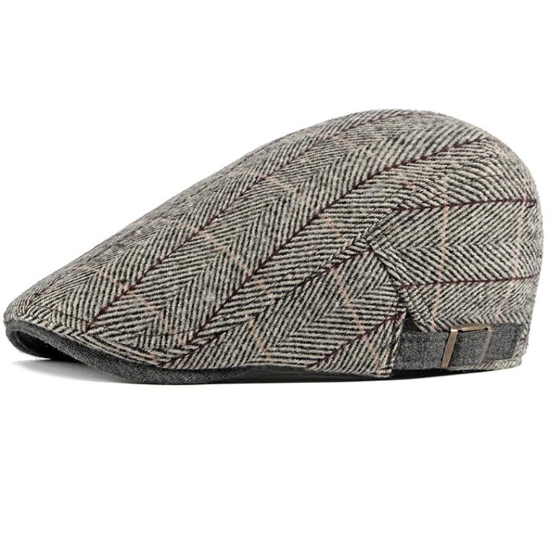 Women Men Hats 2019 Beret Caps Black Herringbone Newsboy Baker Boy Hats Tweed Flat Cap Mens Hat Winter Autumn Hats Boinas