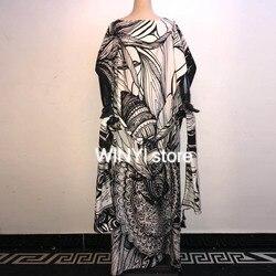 Летнее Новое модное женское Повседневное платье размера плюс с коротким рукавом в стиле бохо Ретро, льняное длинное платье макси с принтом, ...