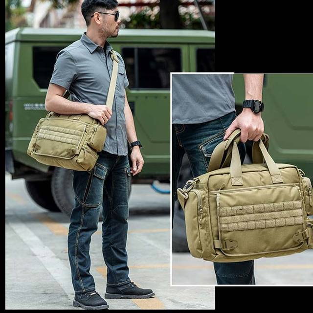 NANCY TINO Military Handbag 14inch Laptop Tactical Bags Camouflage Army Molle System Bag Ffor Camping Hiking Travel Outdoor 6