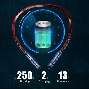Image 2 - 最新のワイヤレスbluetooth V5.0イヤホン3Dステレオヘッドセットネックバンドスポーツットヘッドホンイヤホンイヤフォン低音in 耳のmicとすべて電話