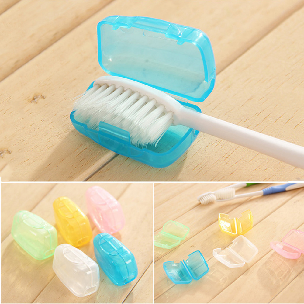 Toothbrush Head Cover Case Brush Holder Cap Wash Brush Cap Case for Travel Camping Hiking Toothbrush Box Bathroom Accessories image