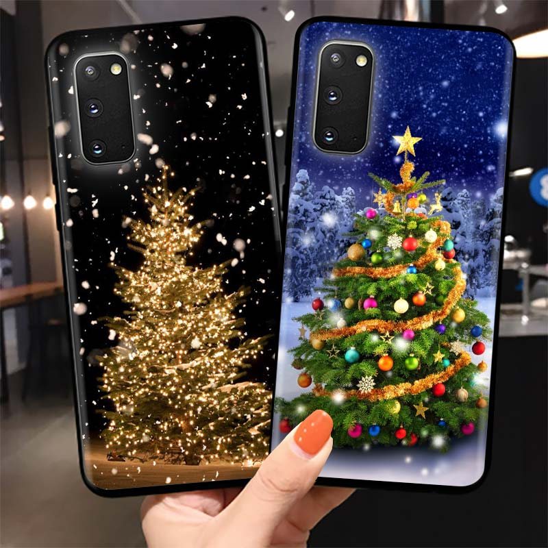 New Year Art Christmas Tree Case Cover For Samsung Galaxy S10 S9 S8 S20 Ultra FE S10e S10 Lite Phone Soft Shockproof Shell Funda