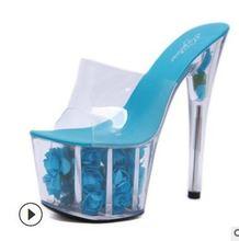 Домашние тапочки летние женские модельные туфли 2019 очень высокие