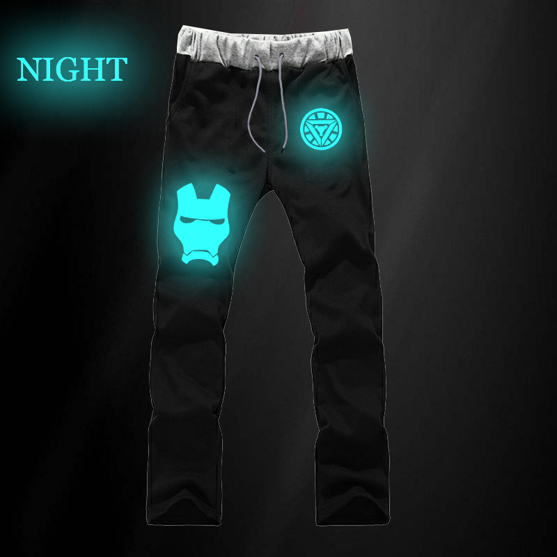 2019 New Arrival Casual Long Pants Iron Man Sports Cotton Sweat Breathable Jogger Pants Unisex Long Straight Pants Winter Cloth