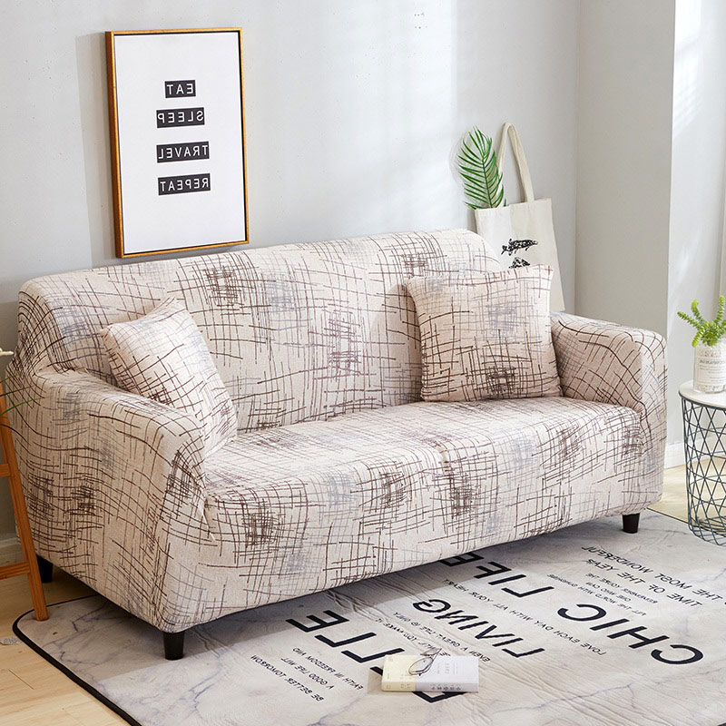 Stripe Printing Sofa Cover Stretch Furniture Covers Elastic Sofa Covers for Living Room Slipcovers for Armchairs