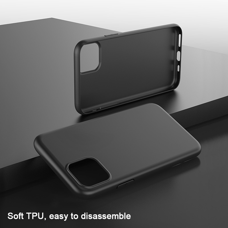 Soft Silicone TPU Phone Case For iPhone X Xs Max 7 8 6 6s Plus Xr Protective Black Matte Funda Case For iPhone 11 pro max Coque