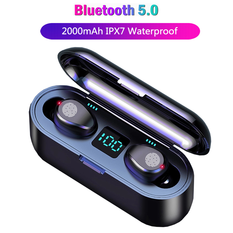 Mini TWS Wireless Earbuds Bluetooth Earphone IPX7 Waterproof Headfrees LED Display Bluetooth Headset For IPhone Xiaomi Huawei