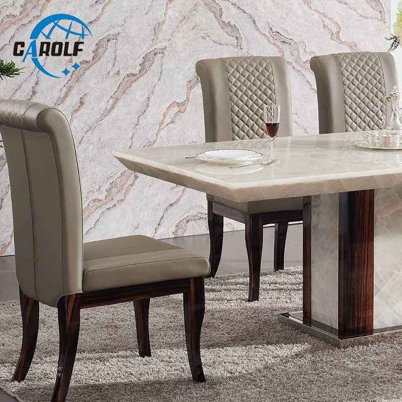 Modern Dining Table Designs Furniture Marble Stone 6 Seater Dining Table Set Dining Tables Aliexpress