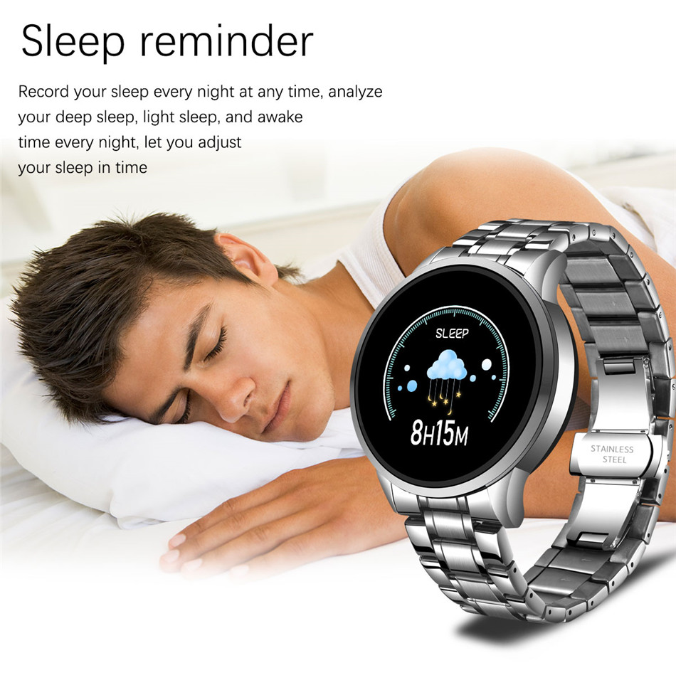 H19478bed600245d4803934f3872f9c89V LIGE 2020 New Smart Watch Men Heart Rate Blood Pressure Information Reminder Sport Waterproof Smart Watch for Android IOS Phone