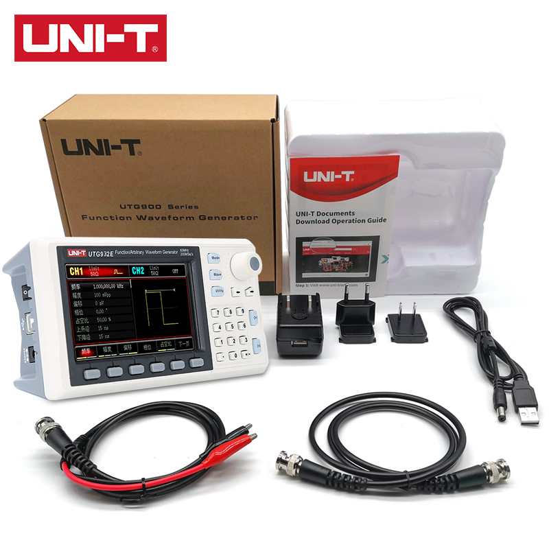 UNI-T UTG932E 30MHz/UTG962E 60MHz Function/Arbitrary Waveform Generator 1μHz 4.3 Inch DDS Support Frequency Sweep Output