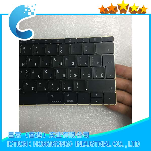 Brand New Laptop A1534 Keyboard for Macbook 12 A1534 Russia RU Keyboard with Big Enter keys 2015 2016 2017 Year image