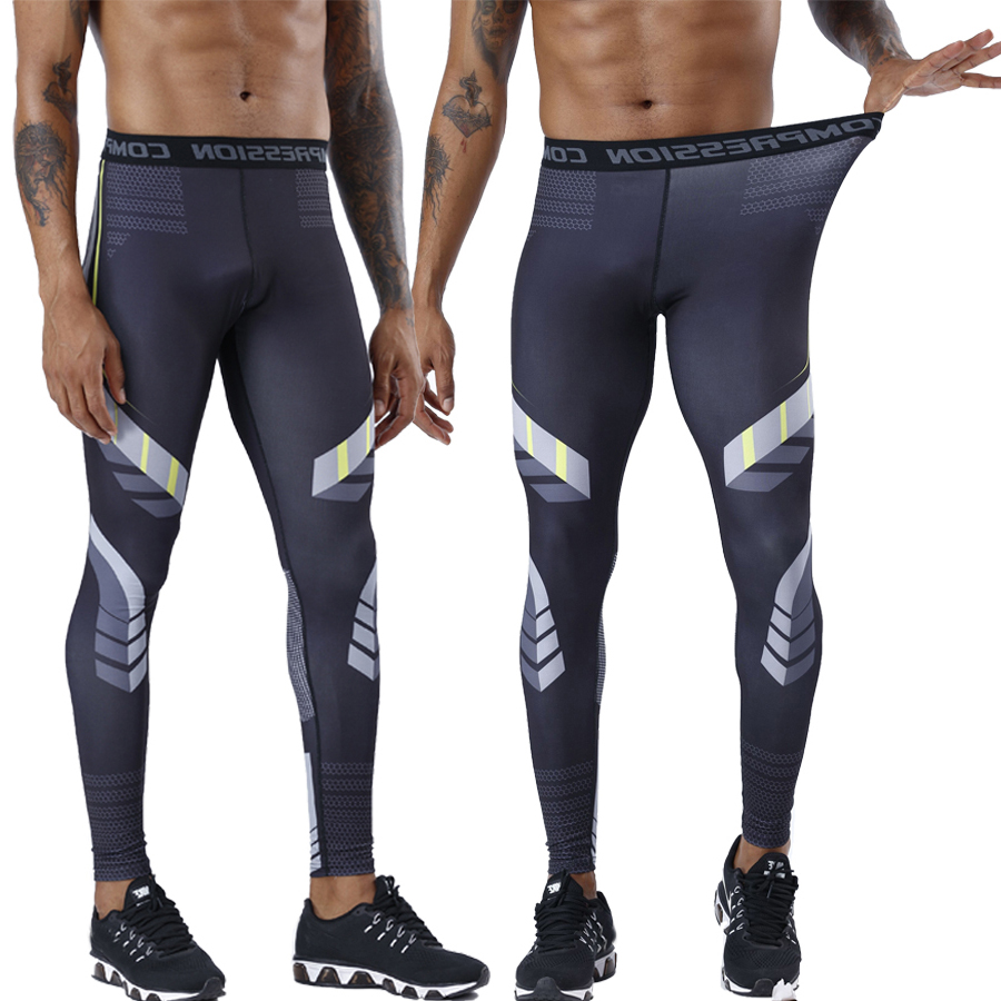 Mens Compression Pants Fitness Skinny Trousers Men Gyms Workout Joggers Sweatpants Jogger Bodybuilding Tight Leggings Track Pant
