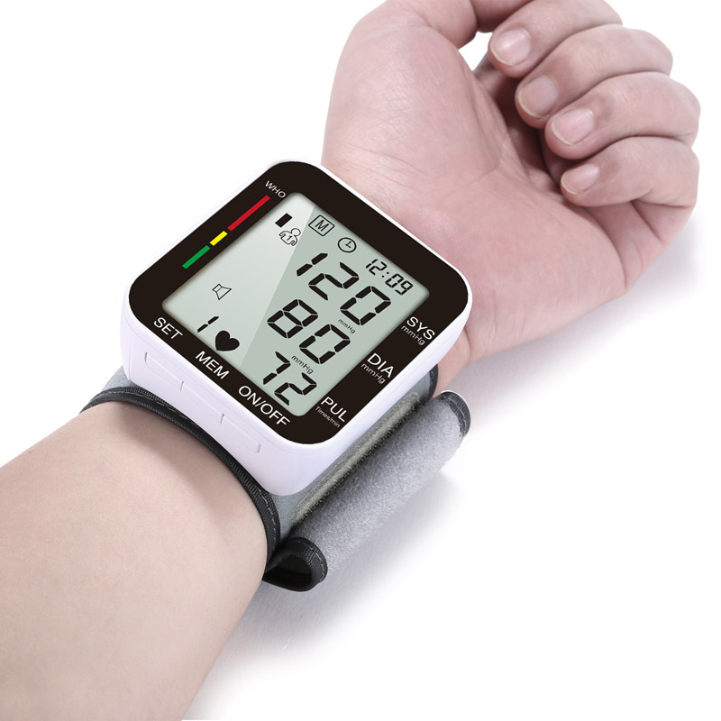 BP Blood Pressure Monitor Wrist Pulse Rate Heart Beat Rate Meter Device machine Medical Equipment Tonometer BP Sphygmomanometer image