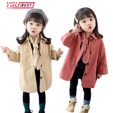 New Fashion Spring Autumn Girls Jacket Children's Clothing Girl Trench Coat Kids Jacket Girl Coats Trench Wind Dust Outerwear