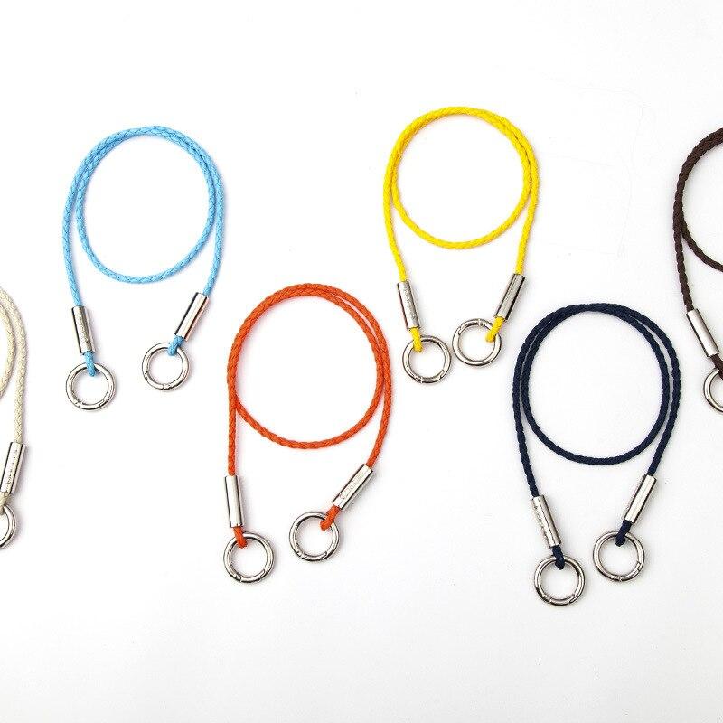 8178 Nacai Creative Circular Ring Double Buckle Anti-Theft Long Lanyard Wallet Bag Key Chain Anti-Lost Lanyard