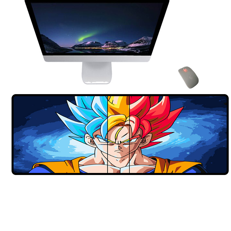 Mairuige Classic anime mouse pad, Super Saiyan computer desk pad, high-speed rubber non-slip keyboard pad
