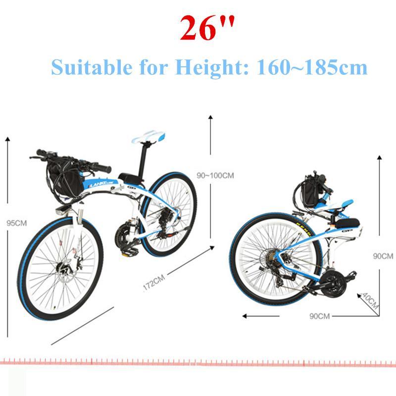 Adulte vélo électrique 36V Portable deux roues vélos électriques 48V 240W rapide pliable vélo électrique vélos adultes - 3