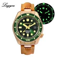Lugyou San Martin Bronze ดำน้ำนาฬิกาผู้ชายอัตโนมัติเซรามิค BEZEL 300 M กันน้ำ Sapphire สายหนัง End ชิ้น SLN