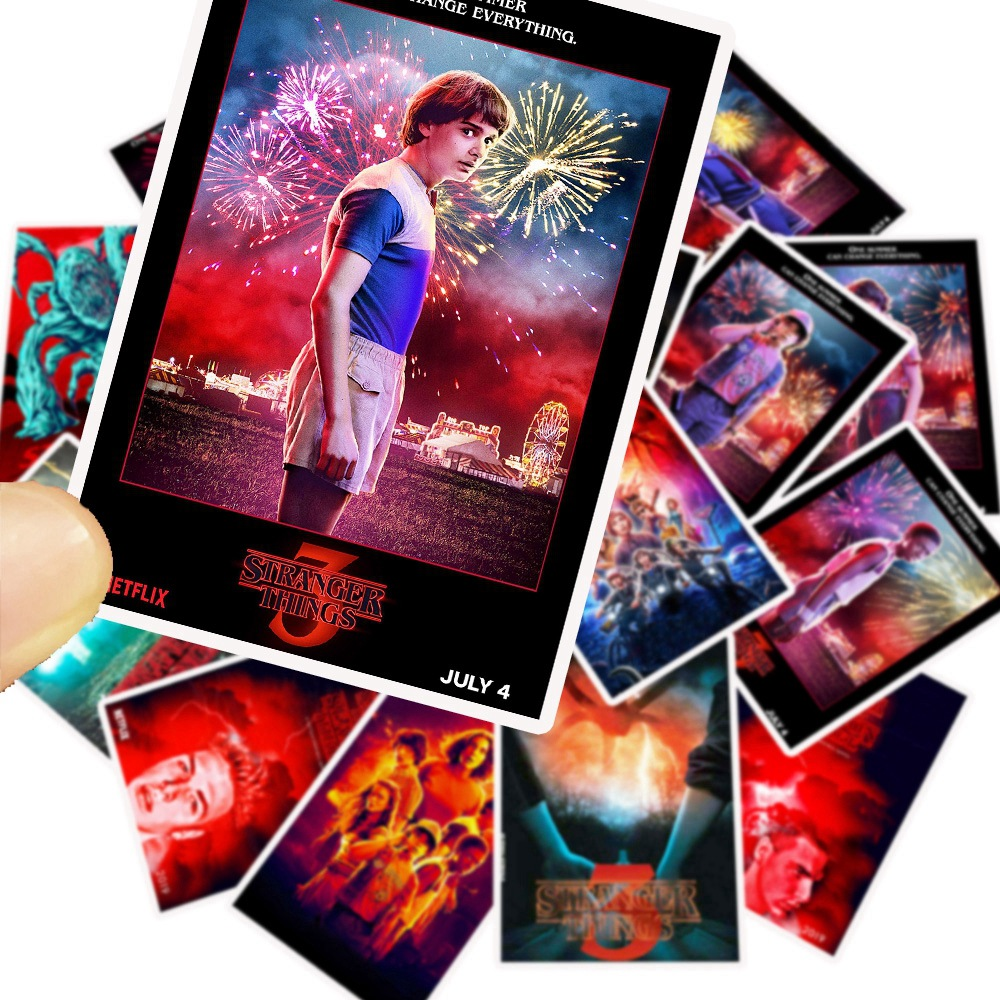 25Pcs/Lot Newly TV Series Stranger Things 3 Stickers for Laptop Motorcycle Skateboard Luggage Decal Toy DIY Sticker