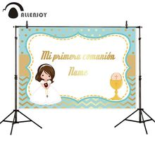 Funnytree girl candy bar comunion background photography backdrop photo studio party decoration custom photocall photobooth