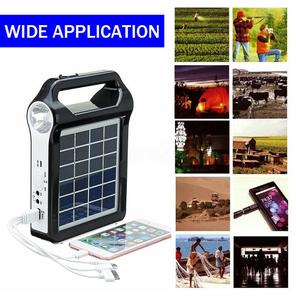 2020 Hot New Products Portable Solar Panel Generator System USB Port Built In Lighting Lamp Dropshipping Accessories Decoration