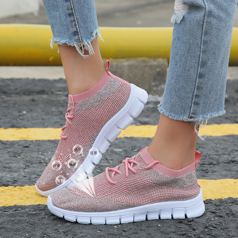2020 New Mesh Women Flat Shoes Lightweight Women Sneakers Breathable Ladies Casual Shoes  Women Casual Shoes ZH100694